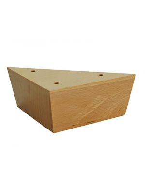 Simples Pies de madera triangulares Natural