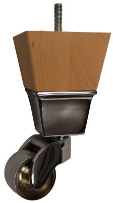 Bethan Furniture Legs with Chrome Castors