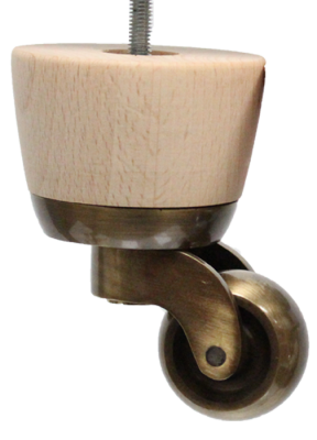 Rose furniture legs with convex antique castors